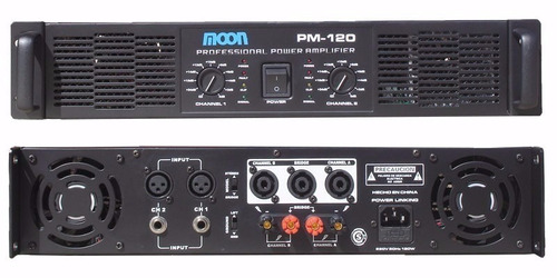equipo sonido consola moon mc602usb potencia bafles 15 esdj