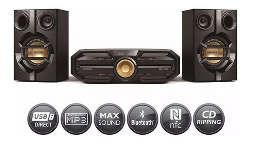 equipo sonido philips fx20x hi-fi bluetooth 300w nfc mp3 cd