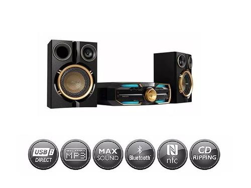 equipo sonido philips fx30x bluetooth 720w nfc usb am fm