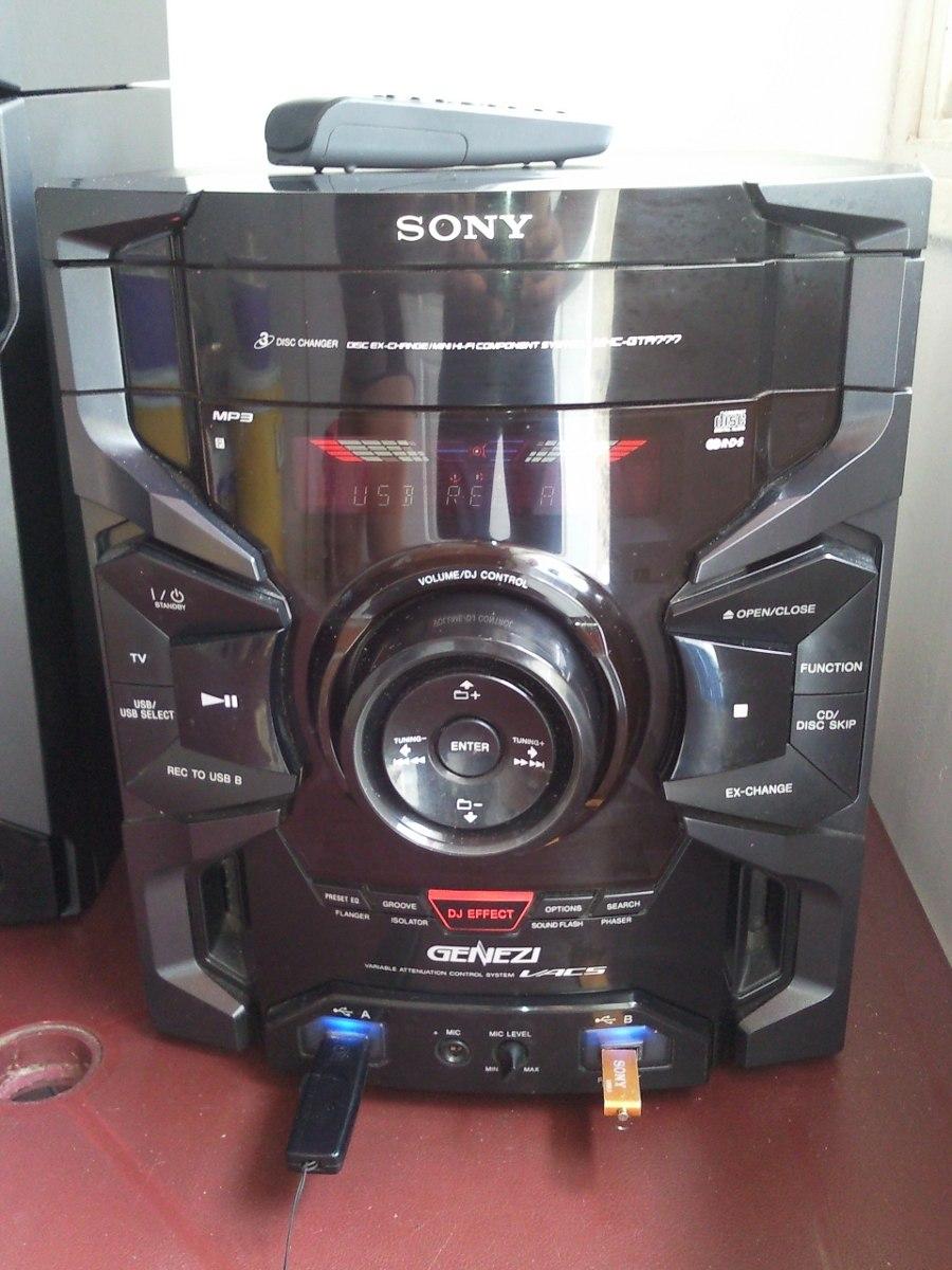 Equipo sonido sony genezi impecable estado bs - Muebles para equipo de sonido ...