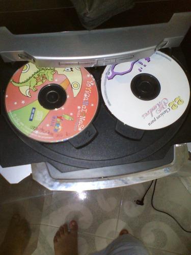 equipo sony fm y  am 3 cd 2 cazeteras con  dos bafles
