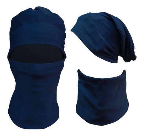 equipo termico remera calza guantes media cuello oslo frisa