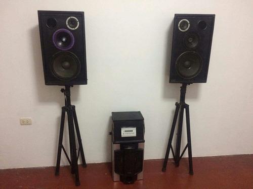 equipos de sonido parlantes subwoofers amplificadores a&t