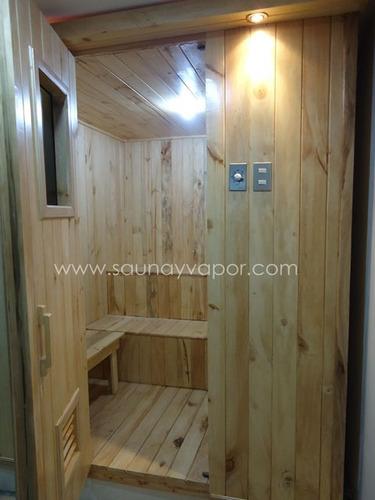 equipos de vapor y sauna. baños de cajón y asiento.