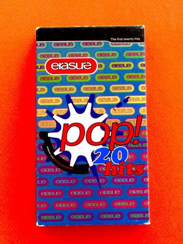 erasure video vhs pop 20 hits de  coleccion depeche mode