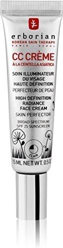 erborian cc cream high def skin perfector claire spf25 15ml!