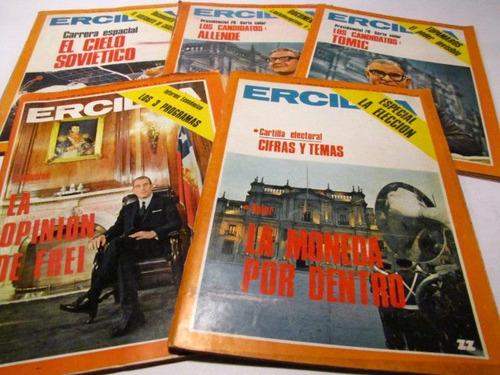 ercilla, 1970, numeros 1829, 1833, 1834, 1835, 1836. (5)