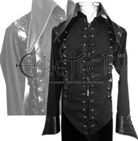 481e8c144d47 Eretica Ropa Dark-camisa Pico Tiras Vinil-gotico-rock