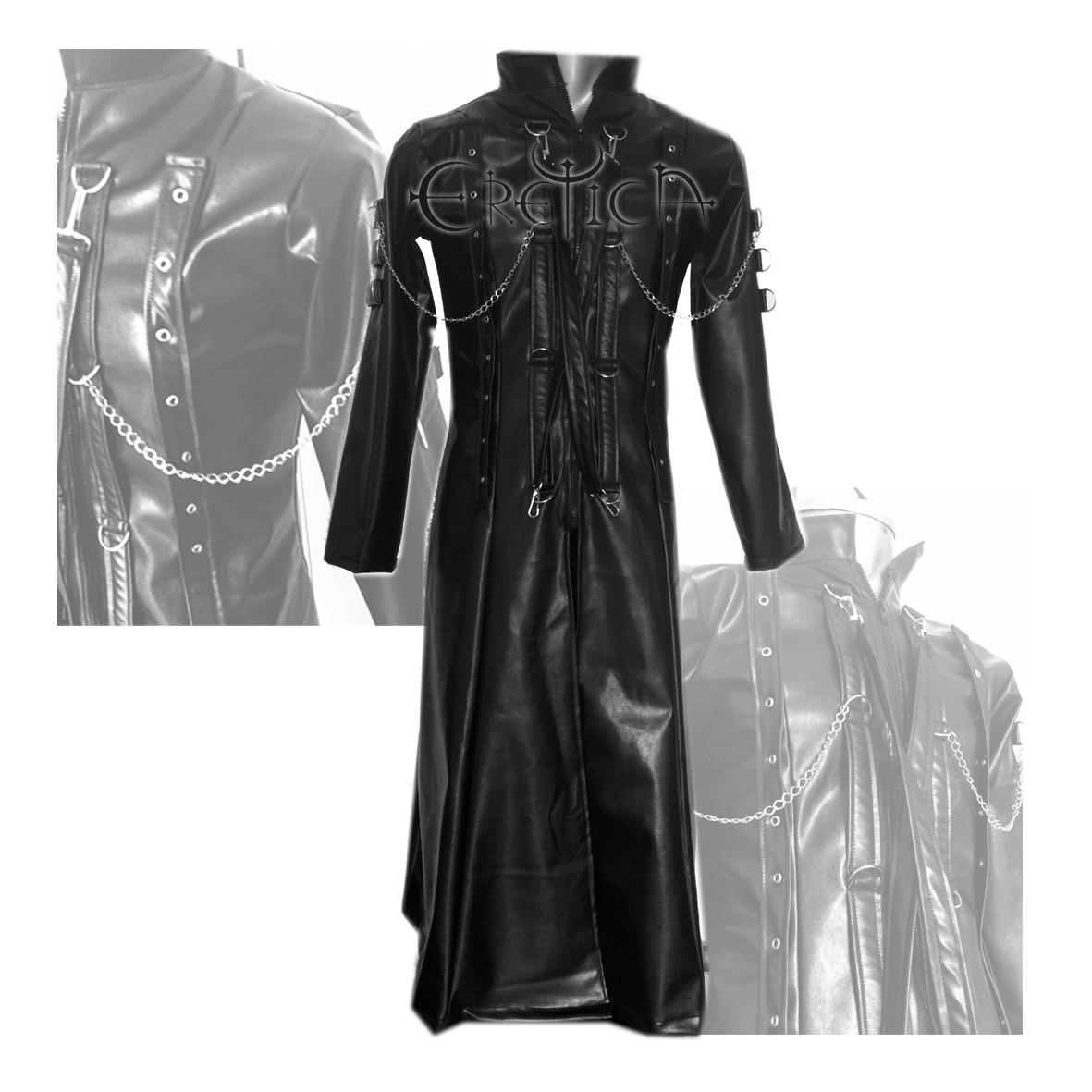 a9b48dac3a837 eretica ropa dark- gabardina vinipiel cadenas-gotico-metal. Cargando zoom.