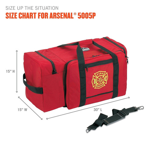 ergodyne arsenal 5005p bombero grande rescate   herramientas