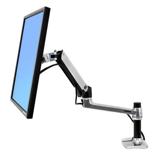 ergotron brazo de mesa lx para monitor color negro