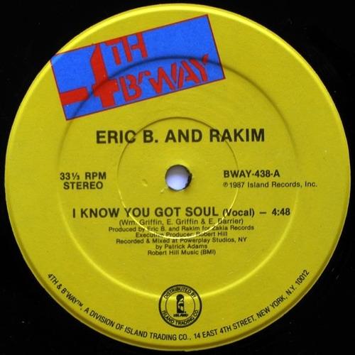 eric b & rakim   12 single  i know you got soul