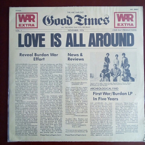 eric burdon - love is all around - lp