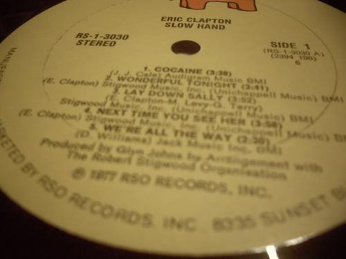 eric clapton.slowhand.vinilo 1977  importado