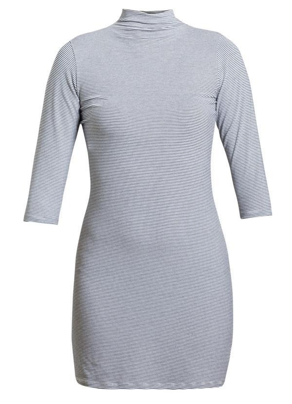 a150ef92f6 erika modas vestido quintess gola alta listrado + 1 brinde. Carregando zoom.