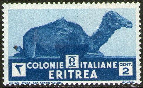 eritrea colonia italiana sello mint camello x 2c.  año 1933