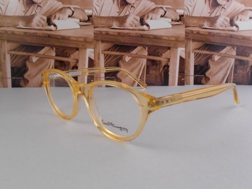 ernest hemingway. armazon oftalmico 4620 amarillo