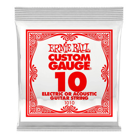 Ernie Ball Cuerda Suelta Guit Electrica/acust Steel 0.10