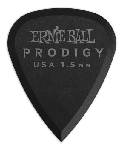 ernie ball prodigy black 1s standard 1.5mm picks 6-pack