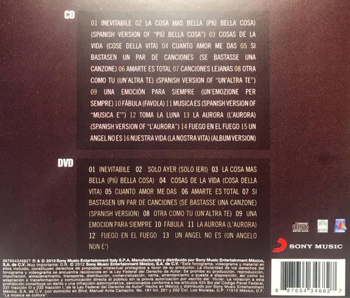 eros ramazzotti best love songs cd + dvd nuevo sellado