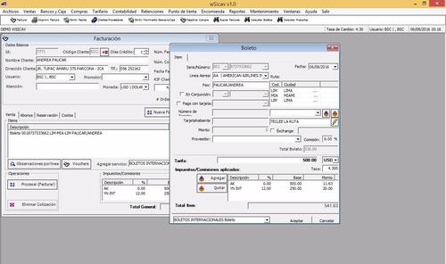 erp para agencia de viajes - con facturación electrónica