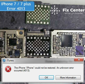 Error 4013 Iphone 7 7 Plus Reparacion De Placas Iphone