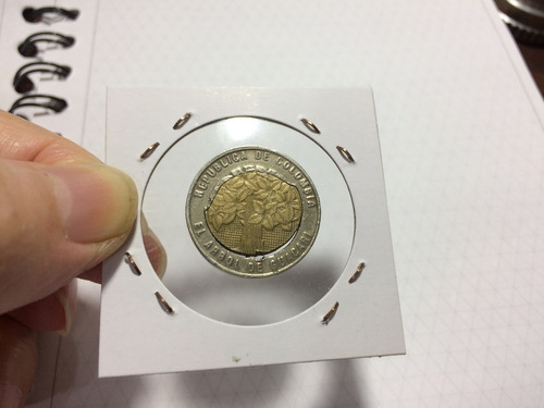 error !!!! cachucha  moneda colombia guacari 500 pesos