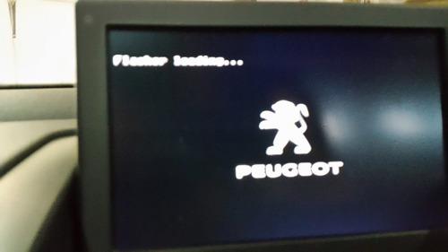 error en inicio gps peugeot 308 pantalla negra -