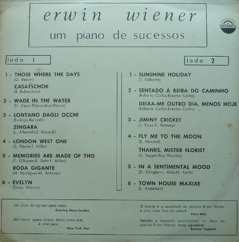 erwin wiener um piano de sucessos - lp fermata publicidade
