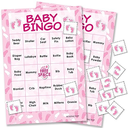 Es Un Juego De Bingo De Baby Shower Para Ninas 24 84 777 En