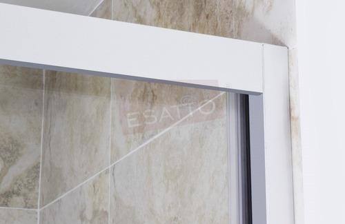 esatto® cancel baño recto cristal templado aluminio