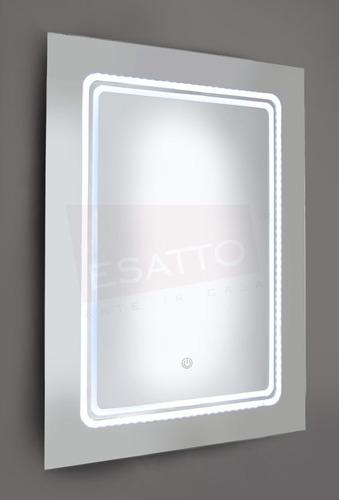 esatto® espejo led touch 80 x 60 cms para baño el8060d