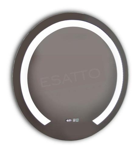 esatto® espejo led touch bluetooth bocinas 80 cm dia el8060f