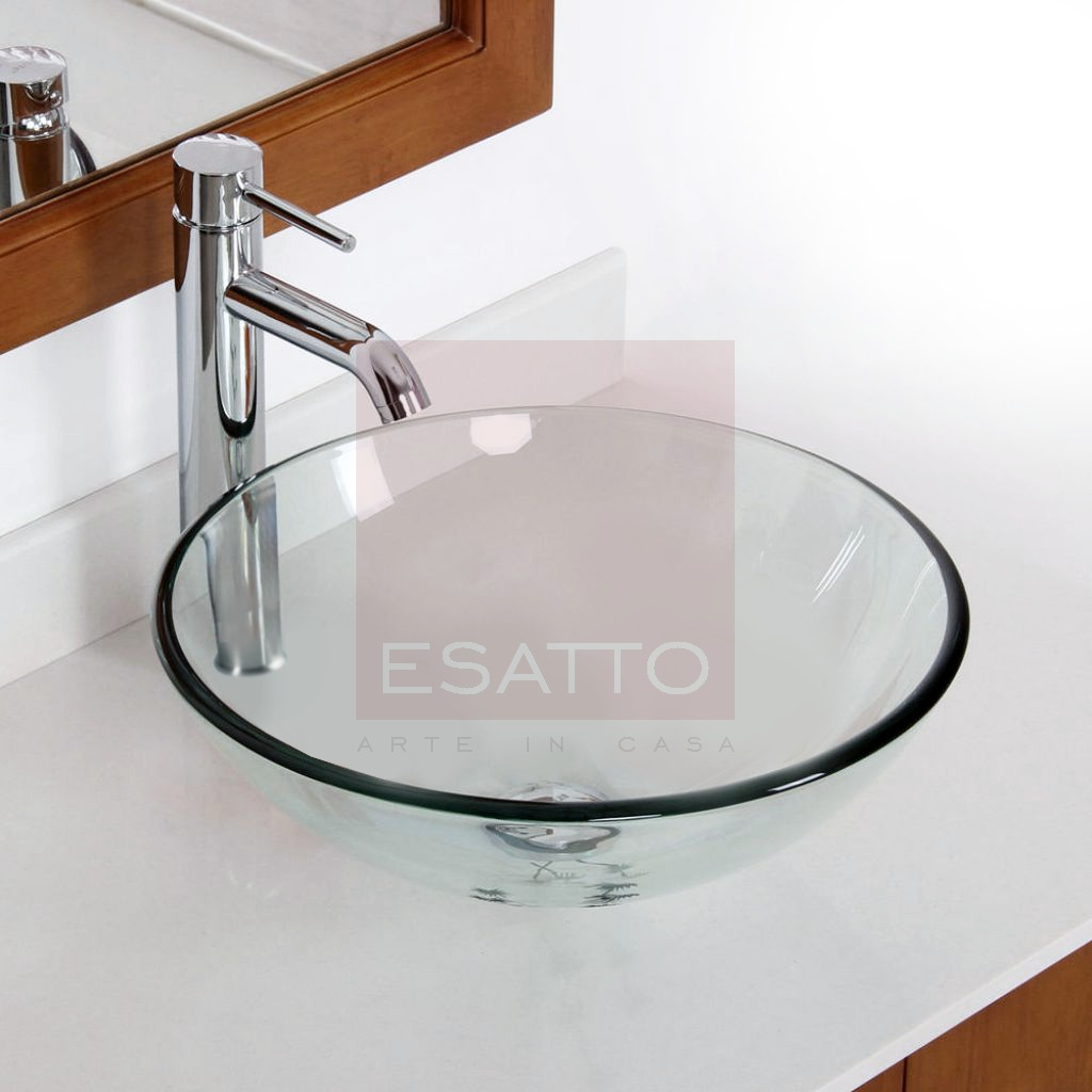 Esatto kit drop paquete lavabo vidrio llave cespol for Llaves para lavabo de bano