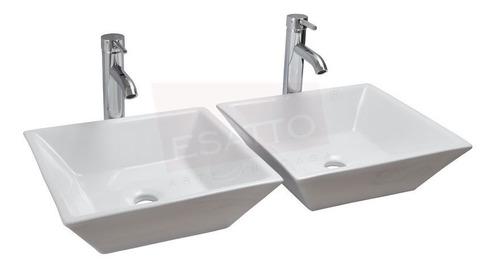 esatto® lavabo moderno maya dual oc-012 ¡llave gratis! 2 pza