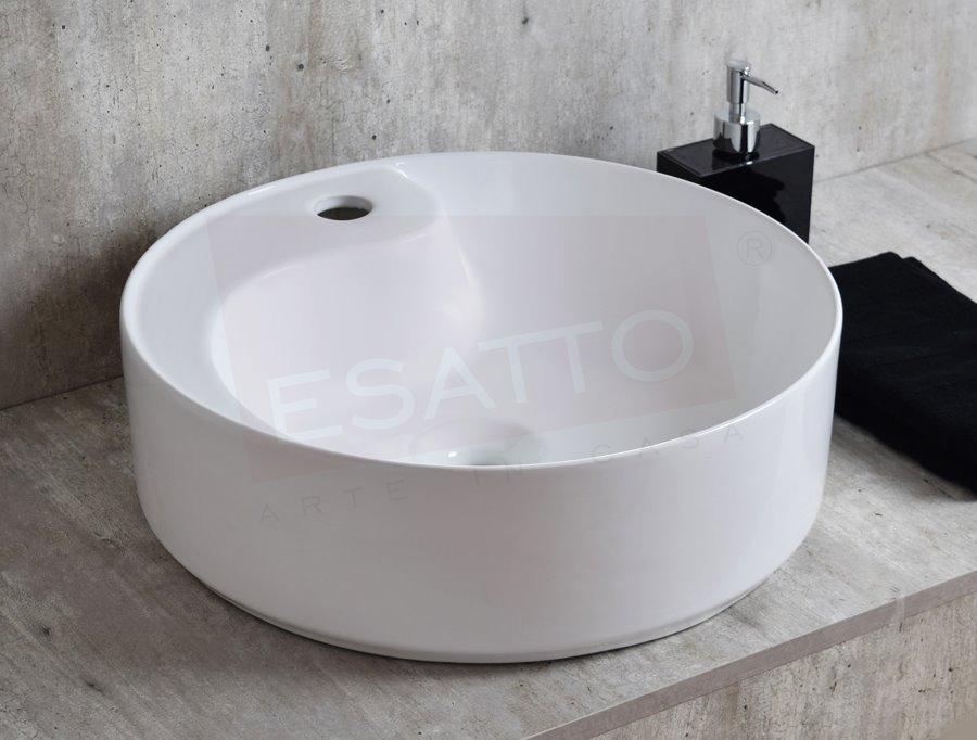 Esatto lavabo redondo ba o moderno cer mico welle oc 076 for Compra de lavabos