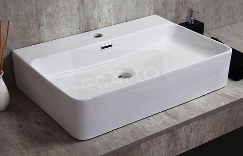 esatto® lavamanos ovalin lavabo cerámico grande baño oc-084