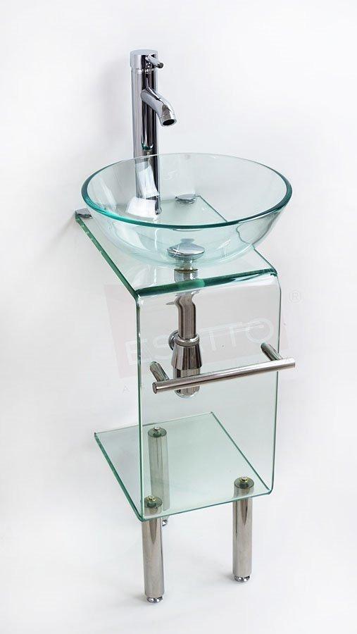 Muebles Bano Lavabo Cristal.Esatto Mueble Bano Lavabo Cristal Vidrio Pequeno Mv 014