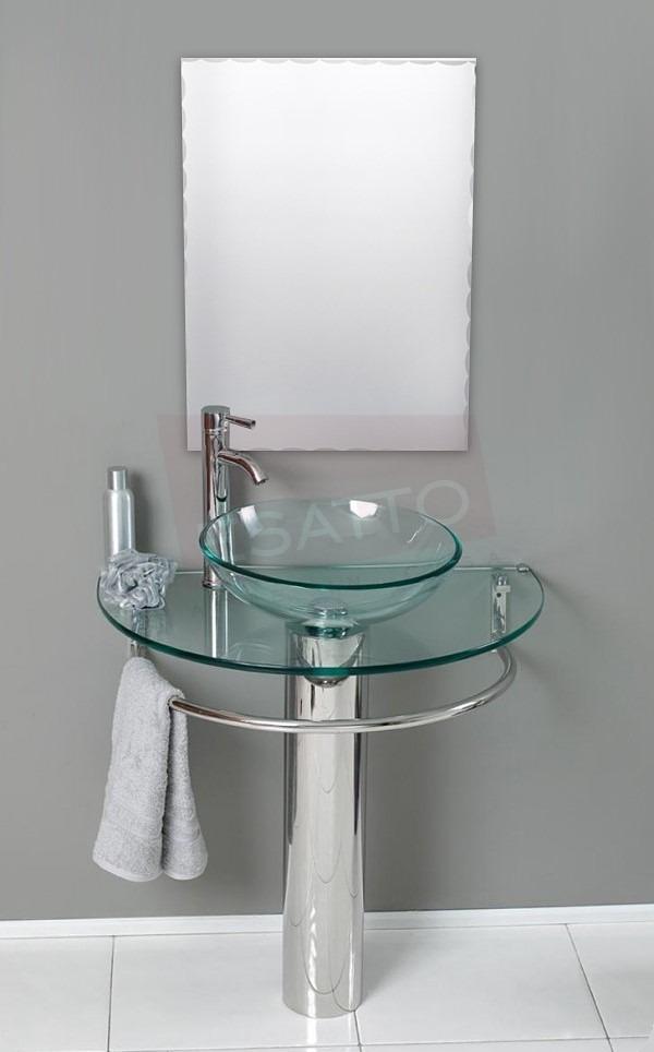 Esatto Mueble De Ba O Lavabo Cristal Cromo Espejo Mv 001