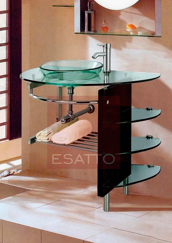 Esatto ® - Mueble De Baño Lavabo Cristal Cromo Mv-005 - $ 5,039.00 ...