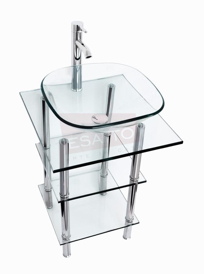 Muebles Bano Lavabo Cristal.Esatto Mueble De Bano Lavabo Cristal Llave Cromo Mv 009