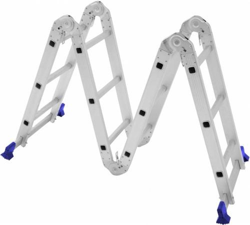 escada 4x3 com plataforma aço multifuncional mor 12 degraus