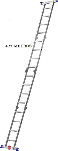 escada 4x4 16 degraus multifuncional articulada plataforma