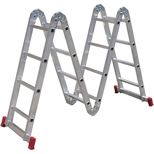 escada alumínio 13 x 1 articulada 4 x 4 botafogo