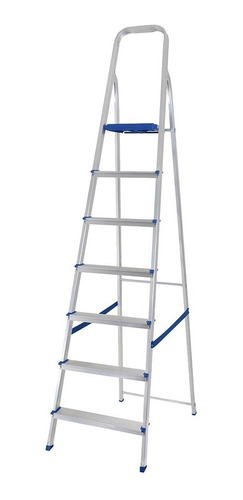 escada alumínio 7 degraus capacidade 120 kg mor - 5105