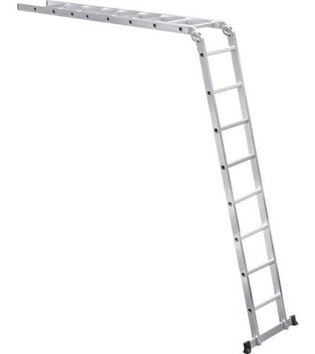escada alumínio multifunção 2 x 8 degraus 4,40 metros vonder