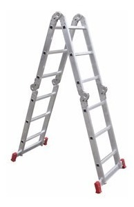 escada articulada aluminio 13 em 1 (4x4) 16 degraus botafogo