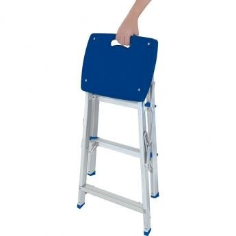 escada banqueta de aluminio 3 degraus - ótima e prática