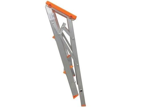 escada banqueta de alumínio dobrável c/ 3 degraus botafogo