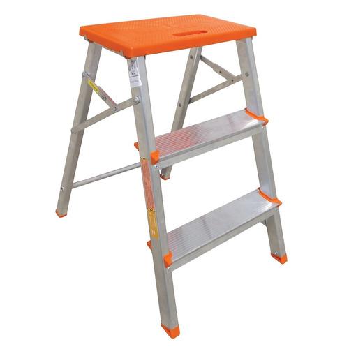 escada banqueta de aluminio dobravel c/3 degraus - botafogo